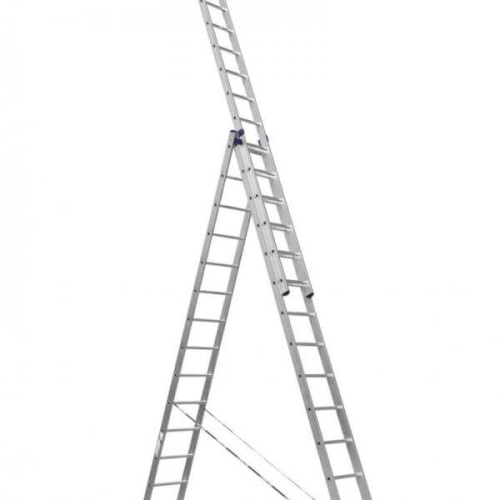 Лестница-стремянка Алюмет трехсекционная универсальная 5311 3x11